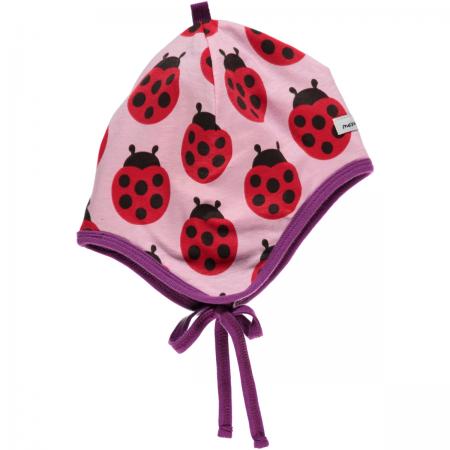 Maxomorra Ladybug Baby Bonnet Hat