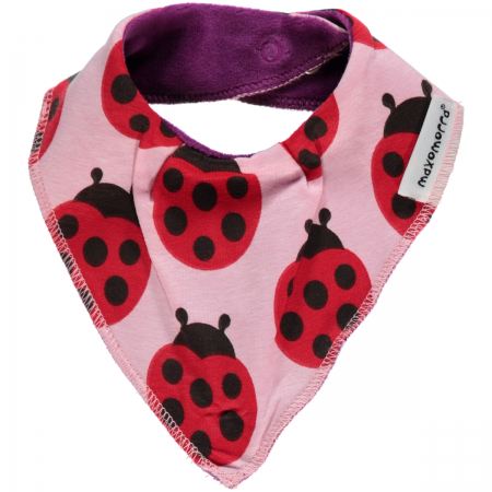 Maxomorra Ladybug Dribble Bib