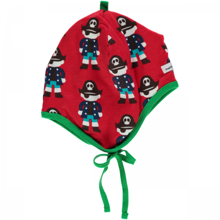 Maxomorra Red Pirate Baby Bonnet Hat