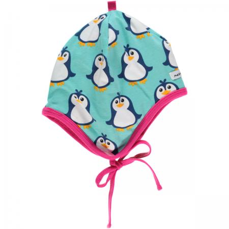 Maxomorra Penguin Baby Bonnet Hat