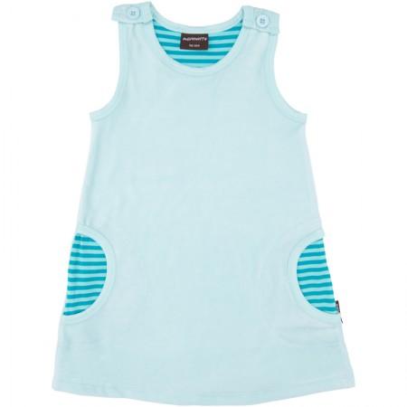 Maxomorra Light Blue Velour Dress
