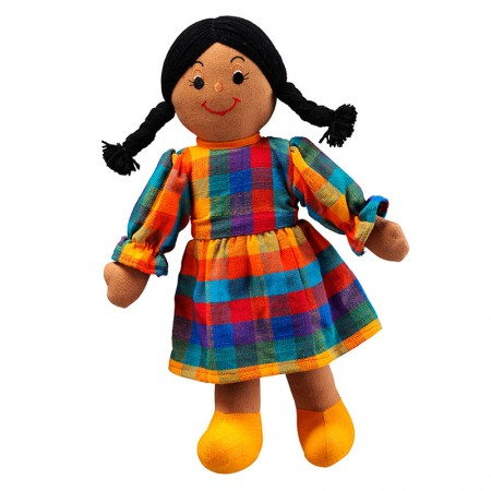 Lanka Kade Black Hair Brown Skin Mum Doll