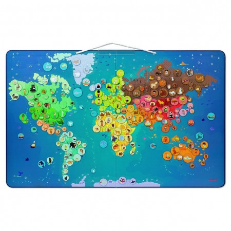 Janod Animal Magnetic World Map
