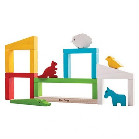 Plan Toys Build A Zoo