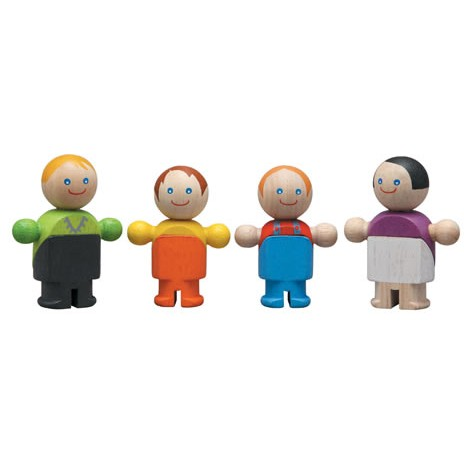 Plan Toys Casual Family Wooden Figures