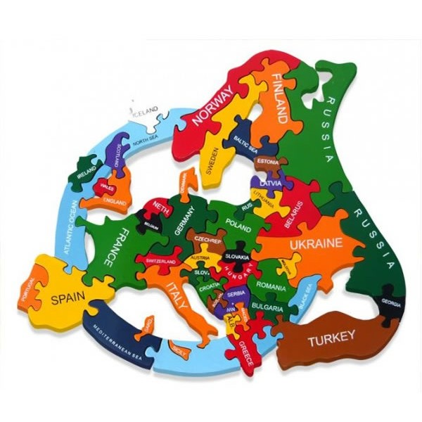 Wooden Jigsaw Puzzles Map Of Europe