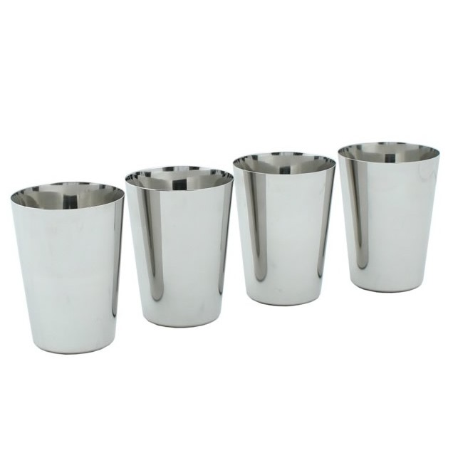 Stainless Steel 300ml Cups X 4 A Slice Of Green