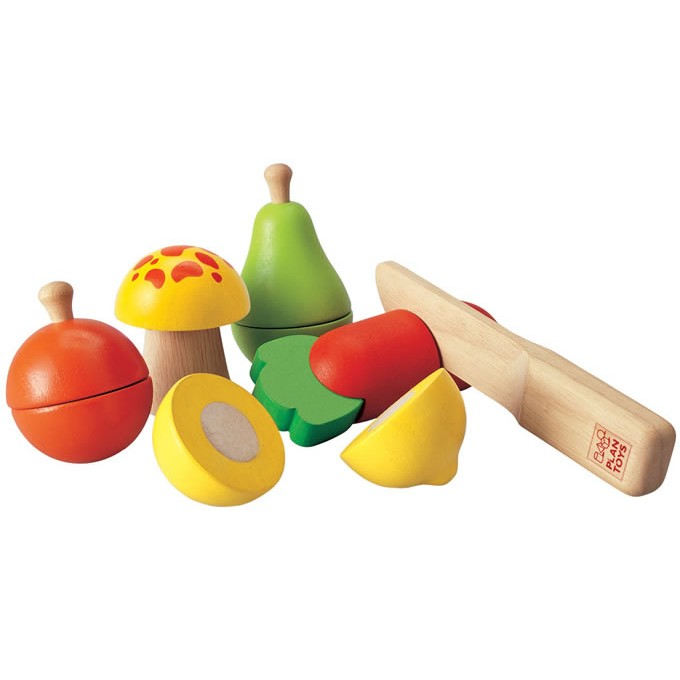 Wooden Fruit and Vegetable Playset