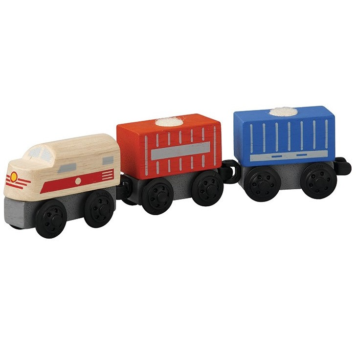 Plan Toys Train Joys : Plan toys cargo train planworld