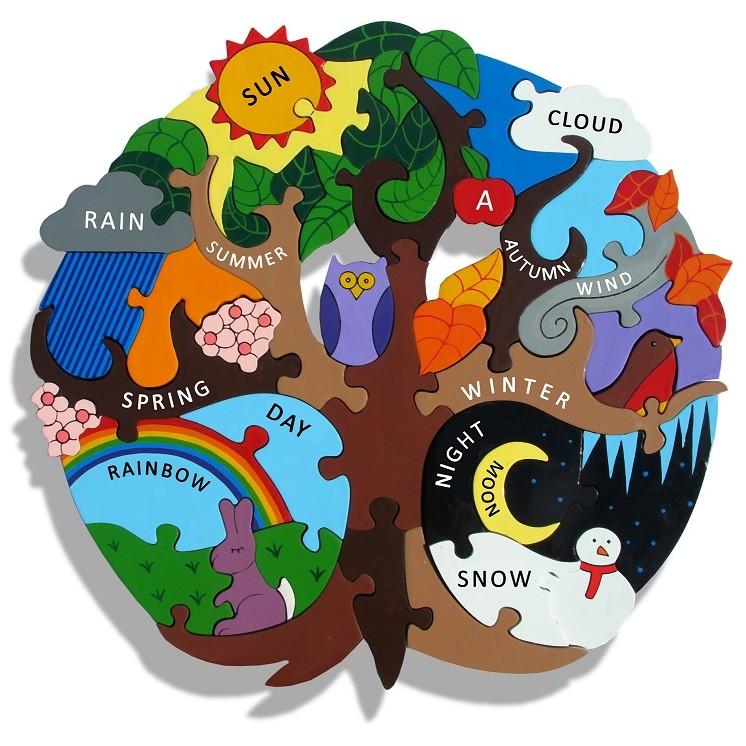 Alphabet Jigsaws Wooden Seasons