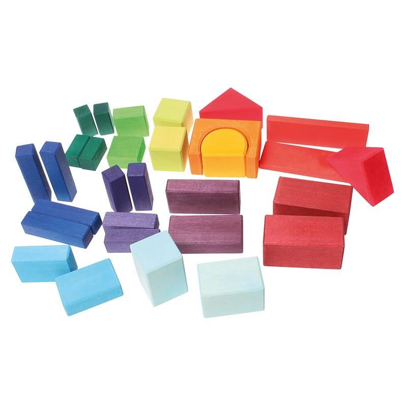 Grimm S 30 Coloured Geo Blocks
