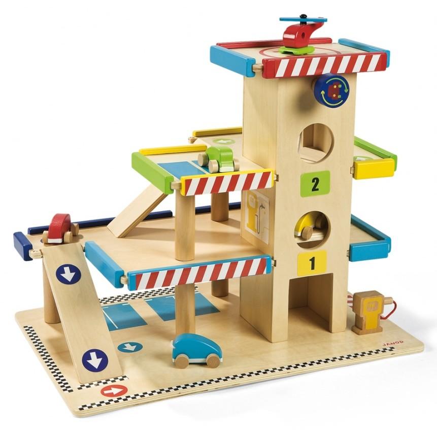 Wooden Toys Catalog : Janod wooden parking garage