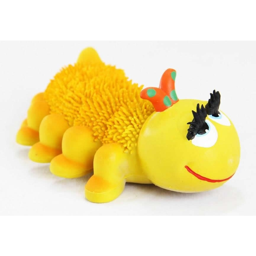 L Organic Pads >> Heady Caterpillar Natural Rubber Teething Toy