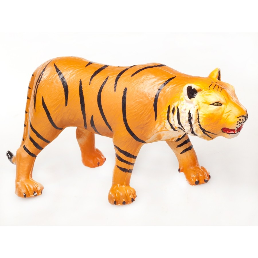 Green Rubber Toys Jungle Animals - Set Of 5