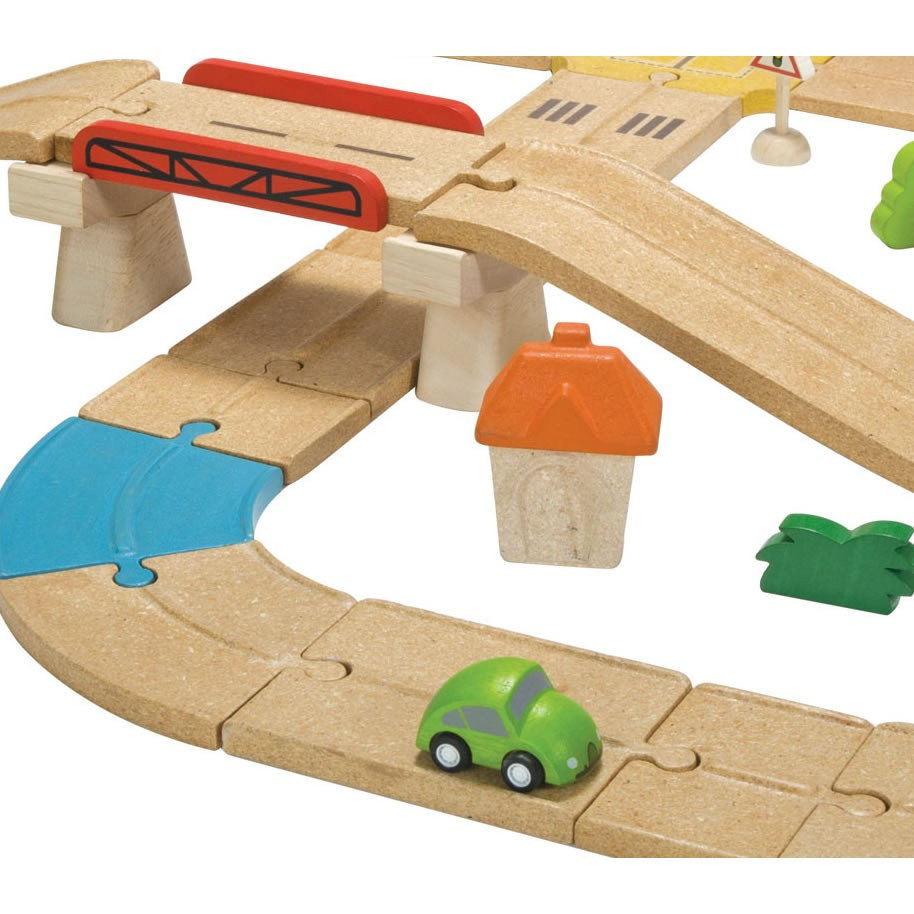 Wooden Toy Plans Catalog : Plan toys wooden roadway set