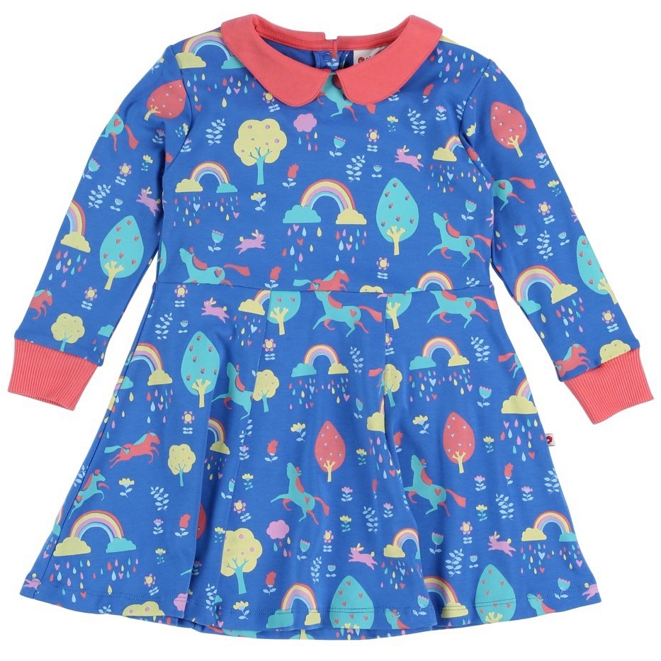 a6b31d060ea1 Piccalilly Rainbow Forest Skater Dress