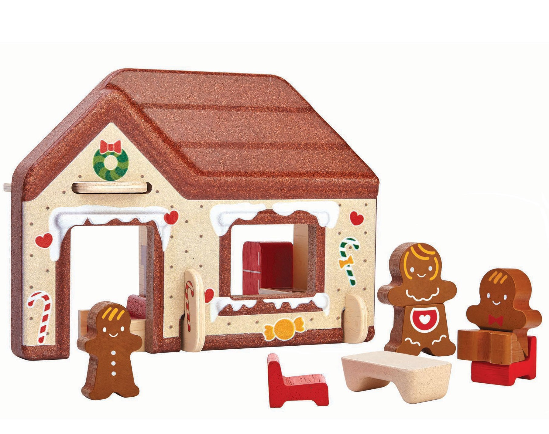 Plan toys gingerbread house for Gingerbread house floor plans