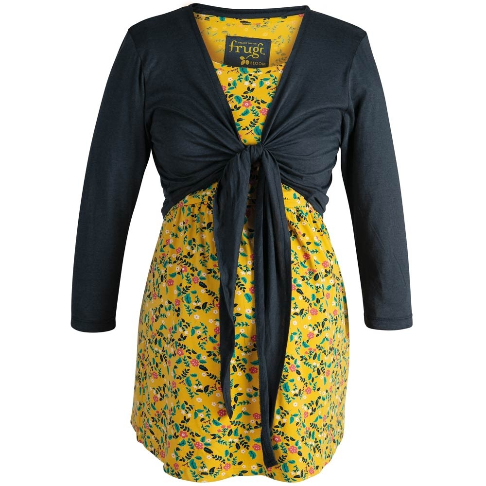 335e02a59959a Frugi Bloom Mustard Floral Top and Tie Cardigan