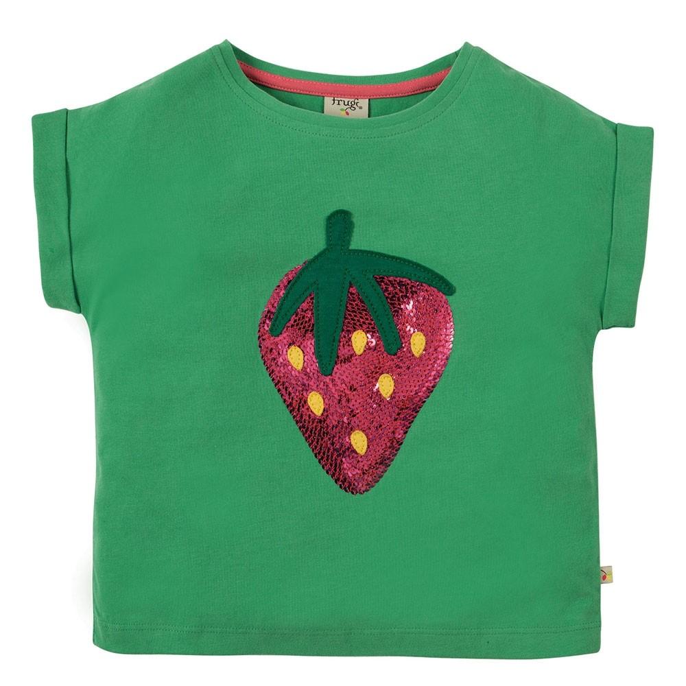 0852604695eb6 Frugi Strawberry Bella Sequin T-Shirt