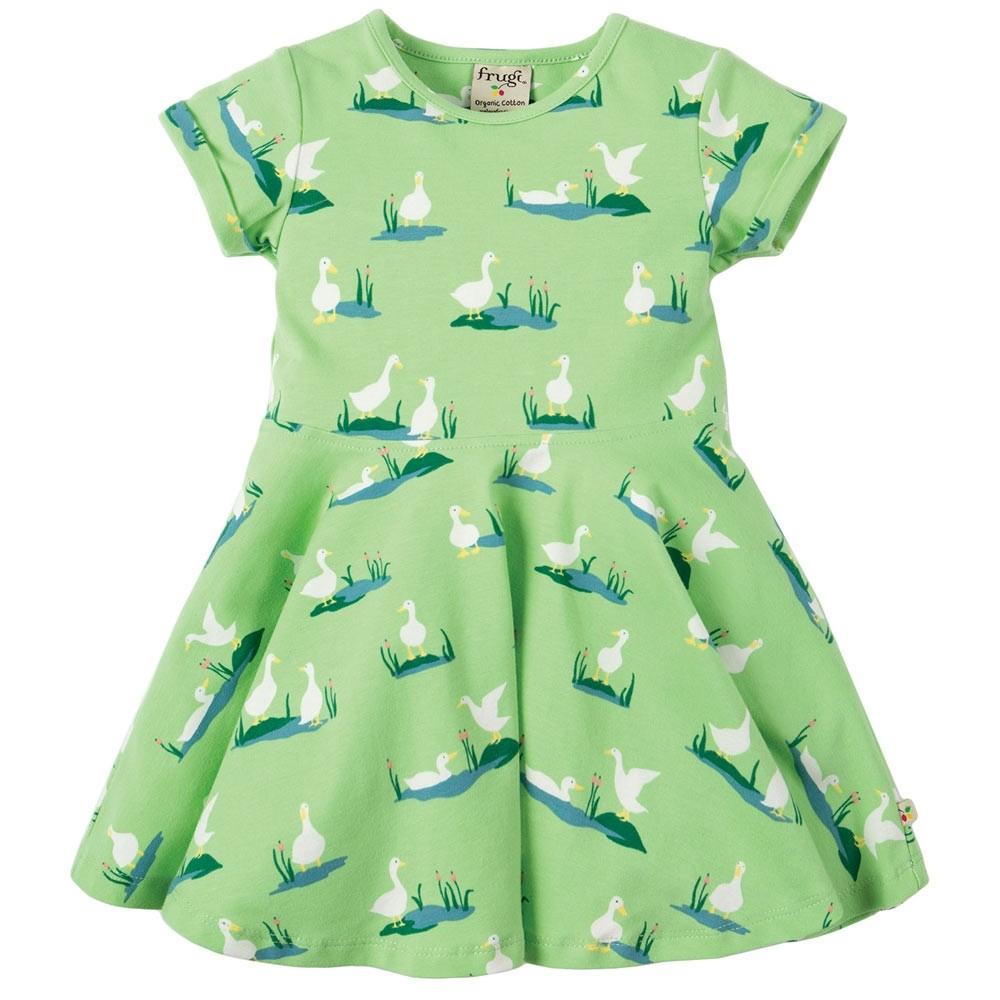 b0bd7e18101a Frugi Duck Ponds Little Spring Skater Dress
