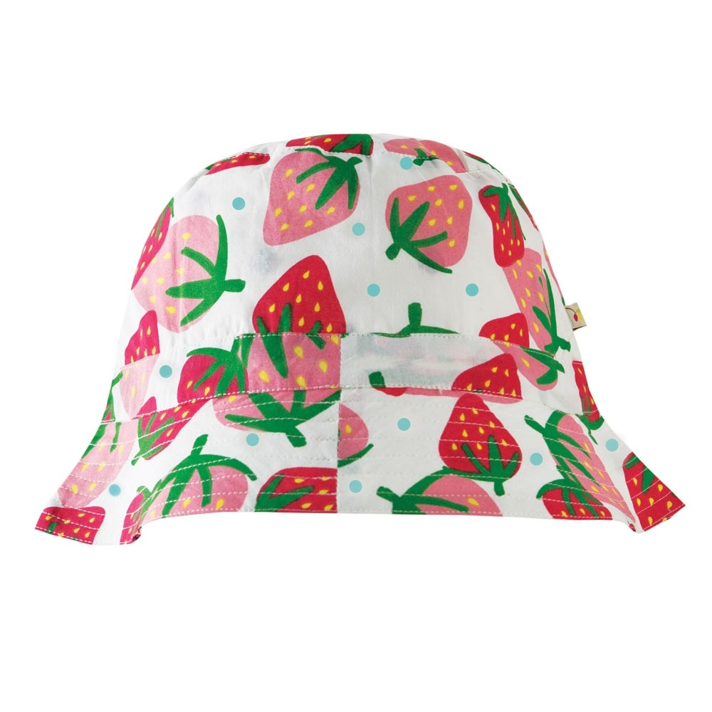 b9458daf41834 Frugi Scilly Strawberries Reversible Hattie Hat. Tap to expand