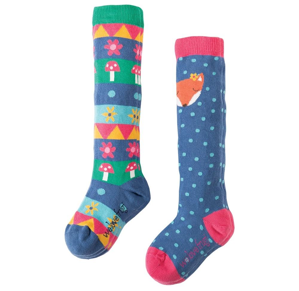 093a88a5e Frugi Fox Pippi Long Socks 2-Pack