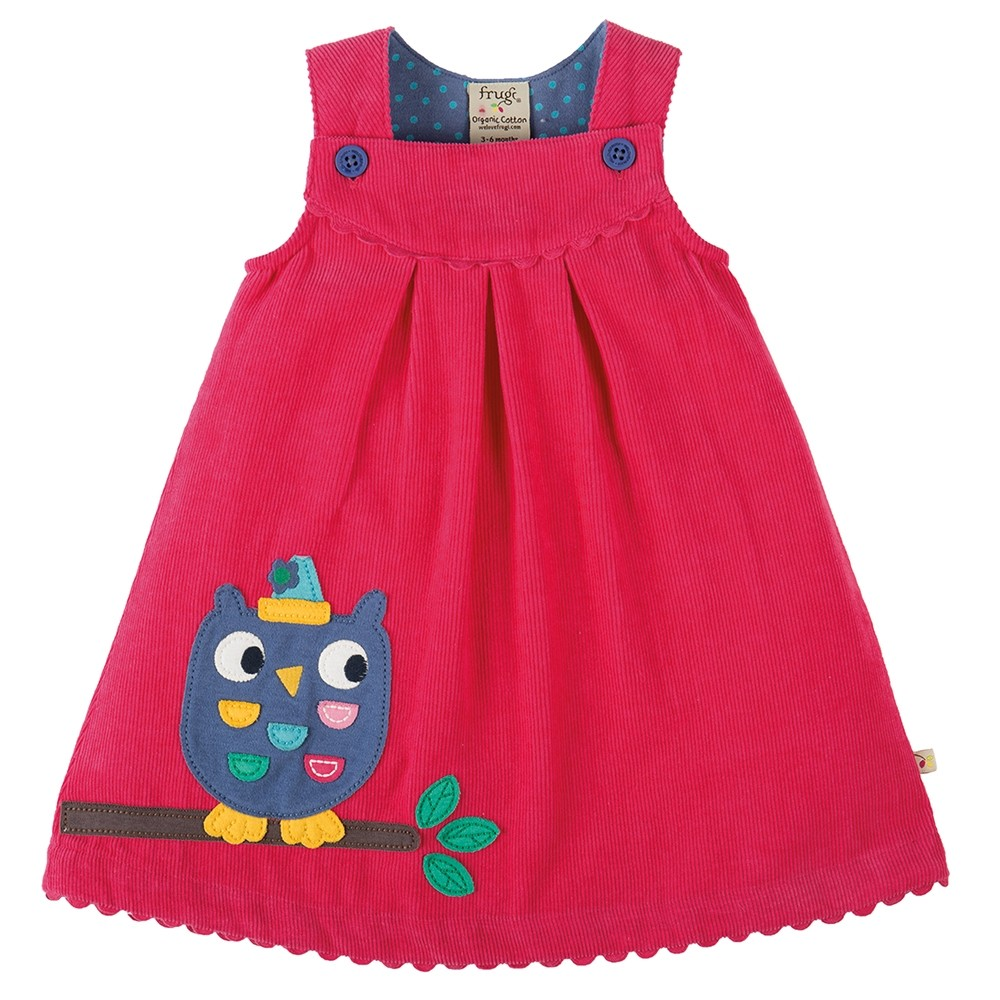 e1db4e7fb Frugi Owl Lily Cord Dress