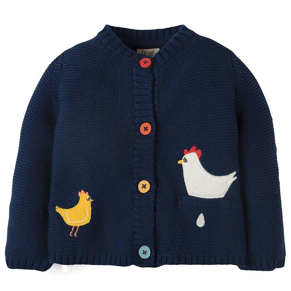 a72324280 Frugi Chickens Cuddly Knitted Cardigan