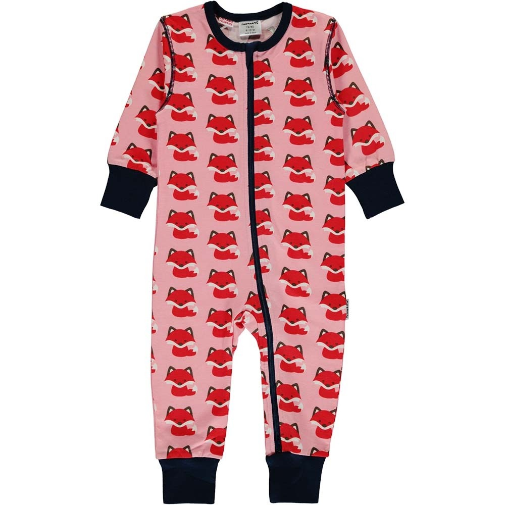 a9a9ea07b Maxomorra Fox LS Zip Romper - playsuits   babygrows - ORGANIC BABY ...