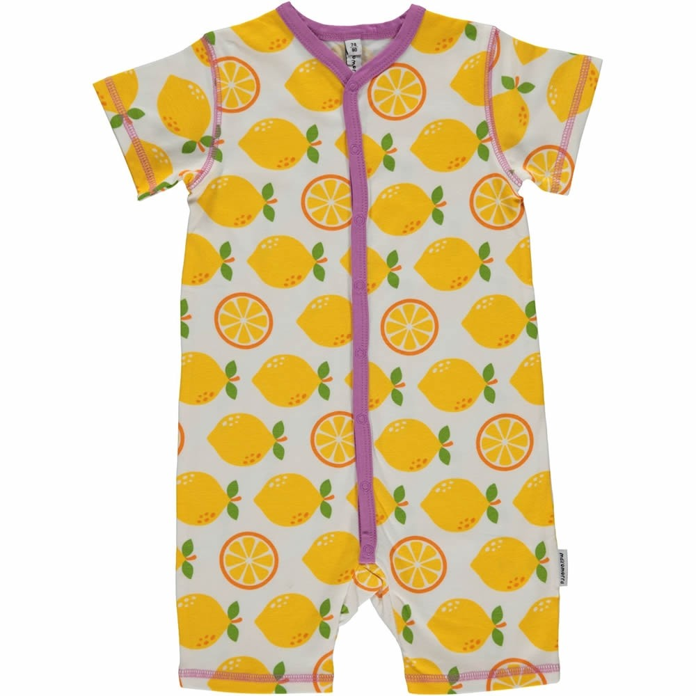dbeb07e1202 Maxomorra Lemon Shortie Romper. Tap to expand
