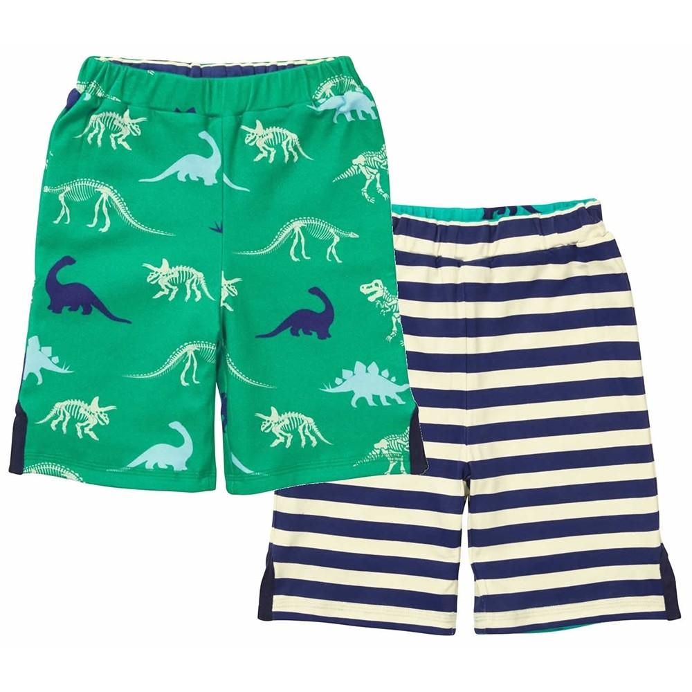 b2bac4122522 Piccalilly Dinosaur Reversible Shorts