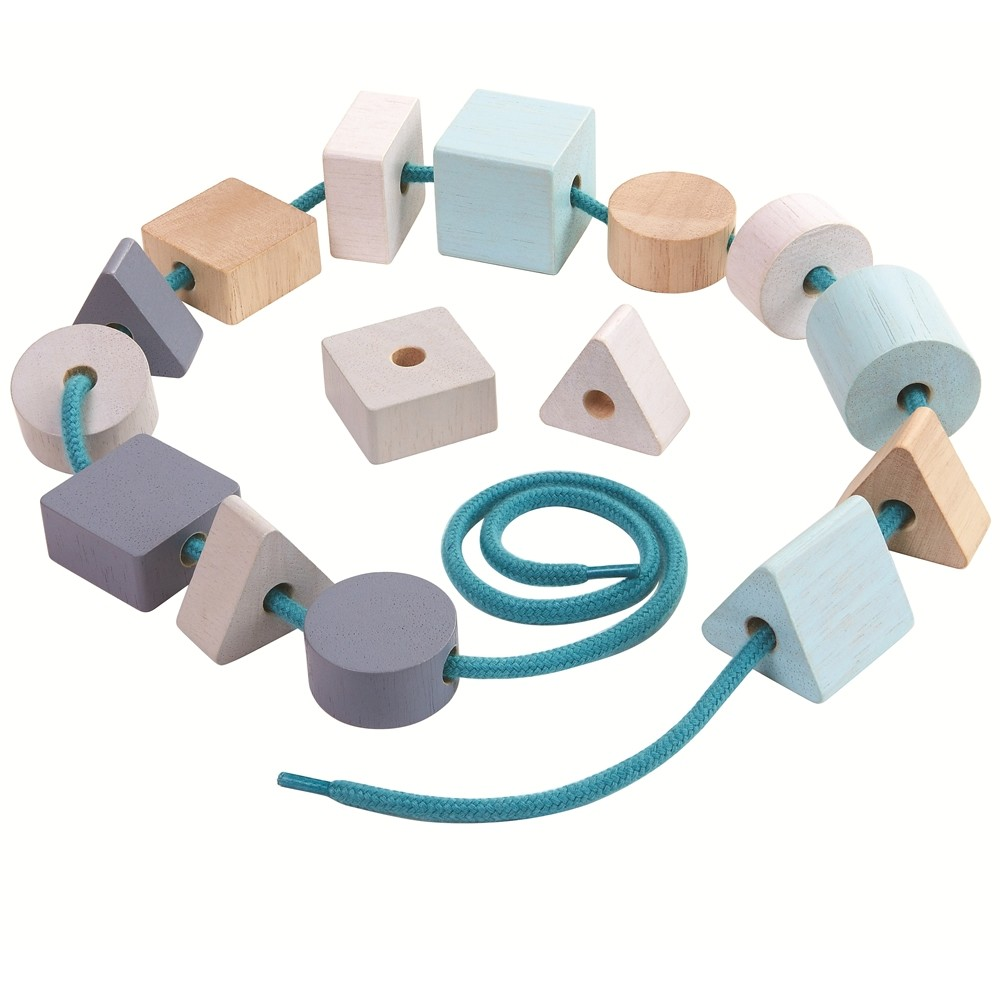 Plan Toys Geo Lacing Beads