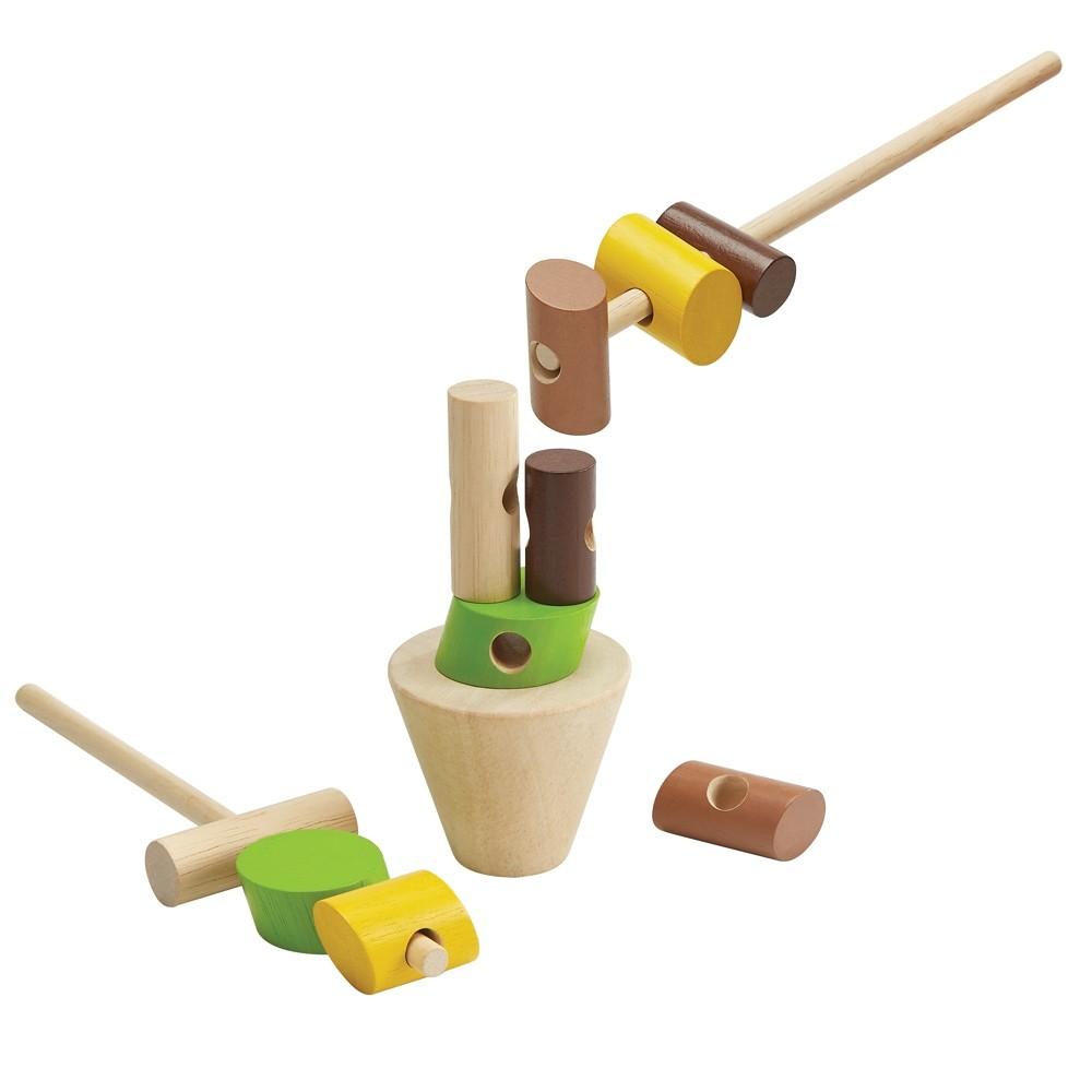 plan toys stacking logs game