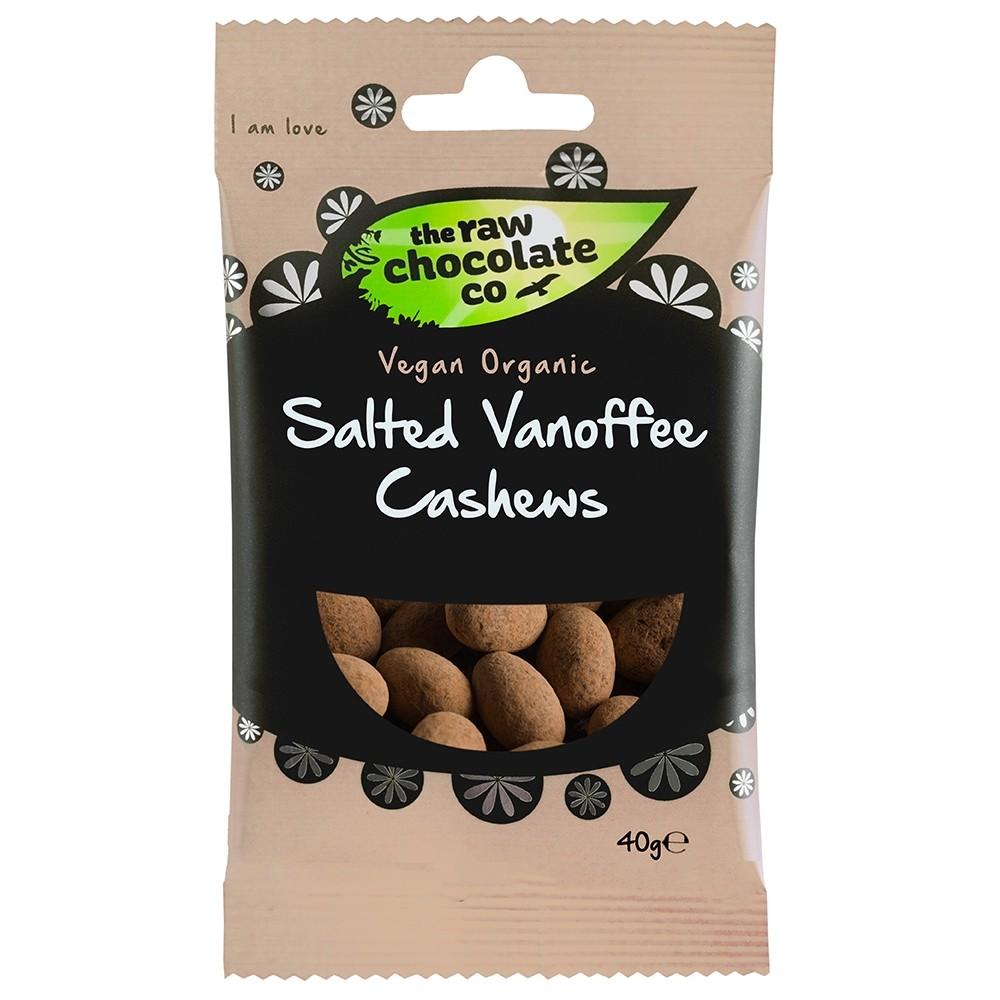 Salted Vanoffee Cashews 40g Raw Chocolate Company