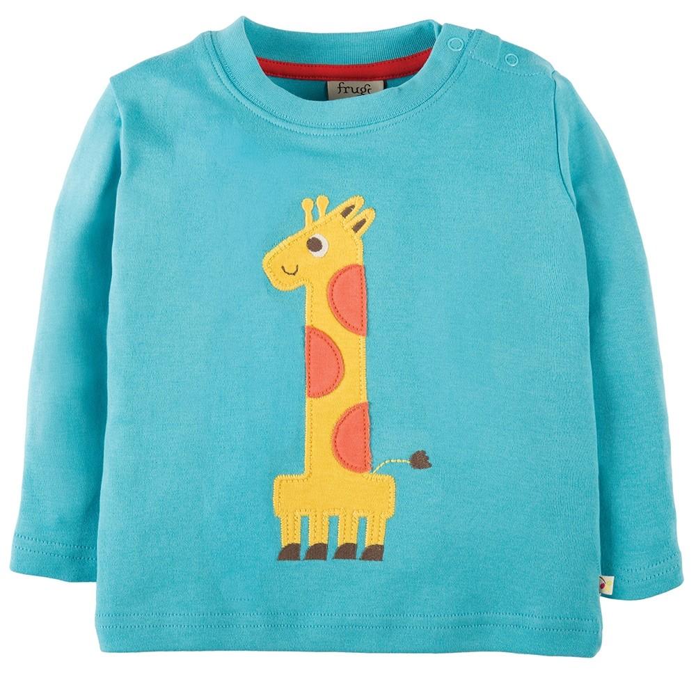 Frugi One Giraffe Magic Number Top