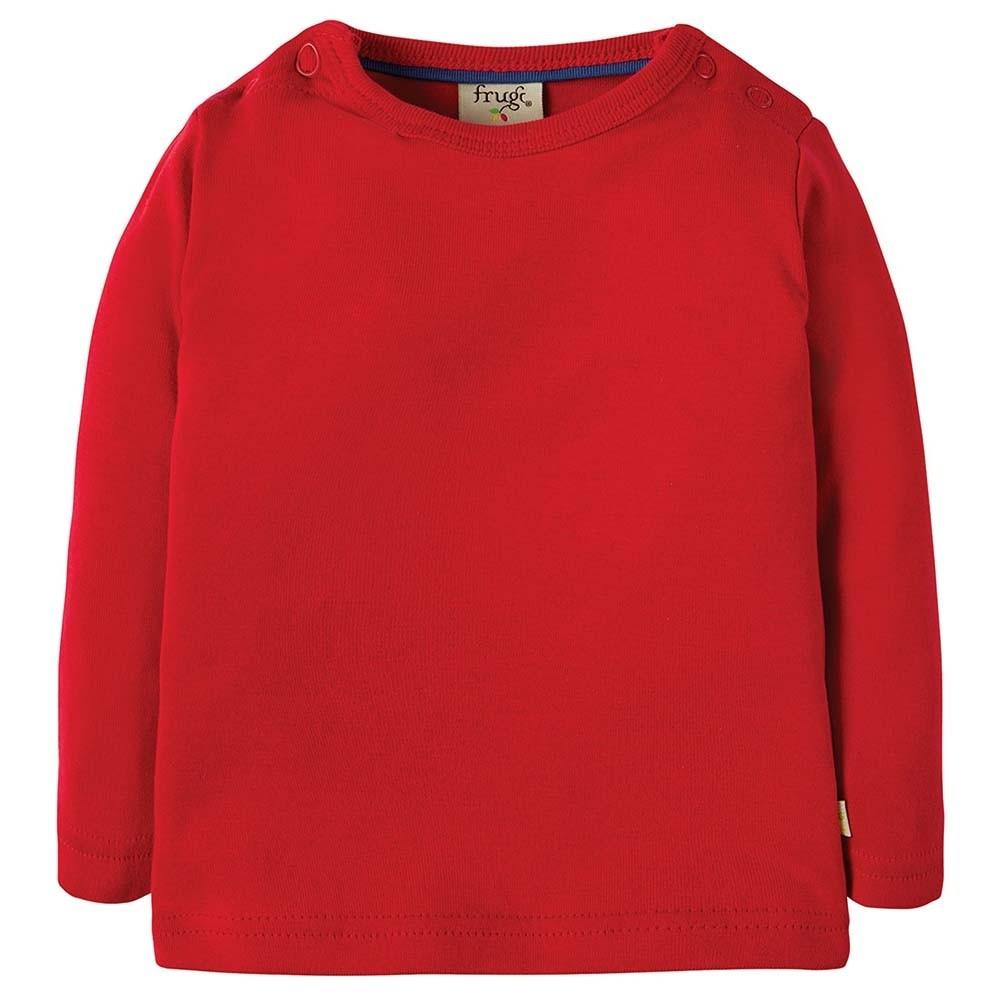 Frugi Red Favourite LS Tee 59c3642fd06
