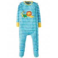 Frugi Lion Zipped Babygrow