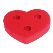 Grimm's Large Red Heart Celebration Ring