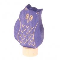 Grimm's Blue Eagle Owl Decorative Figure