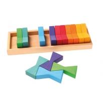 Grimm's Double Trapezoid Building Set