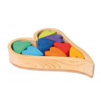 Grimm's Building Set Rainbow Hearts