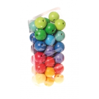 Grimm's 36 Coloured Beads 30mm