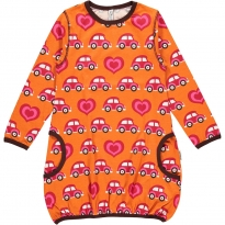 Maxomorra Orange Car LS Balloon Dress