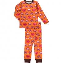 Maxomorra Orange Car LS Pyjamas