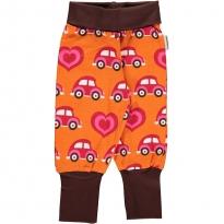 Maxomorra Orange Car Rib Pants