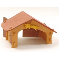 Ostheimer Nativity Stable With Star & Bird Perch