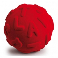Rubbabu Rubber Ball Alphabet Red