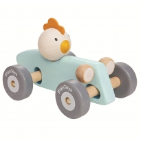 Plan Toys Chicken Racing Car - Blue