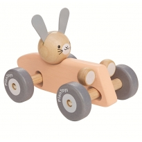 Plan Toys Bunny Racing Car - Peach