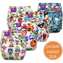 Milovia Pocket Nappy 5 Pack